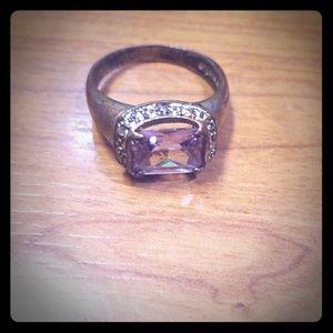 Stamped vintage cocktail ring